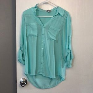 Beautiful teal button up from express